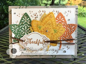 Card created with Stampin' Ups Falling For Leaves stamp set and thinlits.