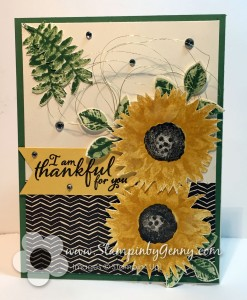 Stampin Up Thankful card made with Painted Harvest stamp set