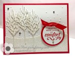 Stampin Up Winter Woods Christmascard