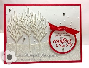 Stampin Up Winter Woods Christmas card
