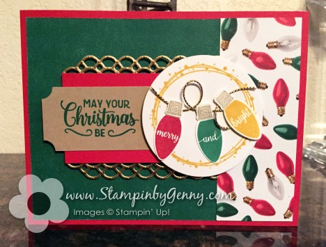 Stampin' UpMerry and Bright Christmas card