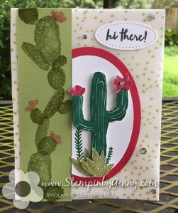 Stampin up Flowering Desert card