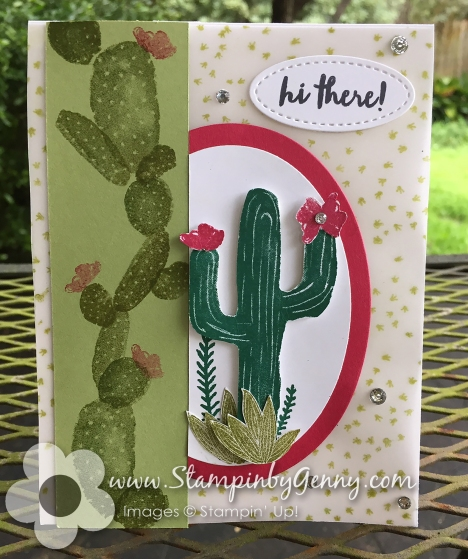 Stampin up Flowering Desert card