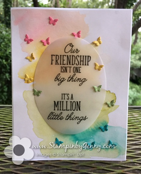 card made with Stampin up Beauty abounds stamp set and Butterfly Beauty Thinlits dies