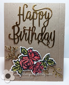 Stampin up Petal Palette birthday card