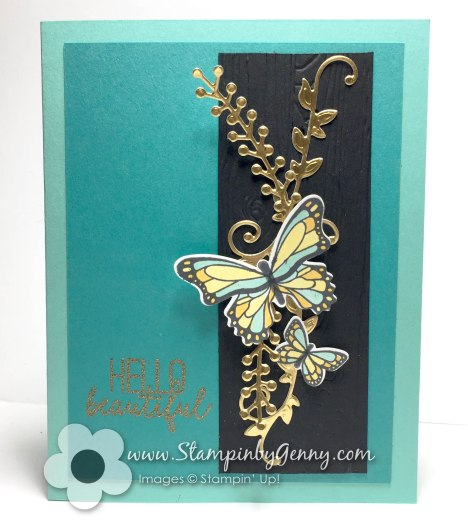 Stampin up Butterfly gala card