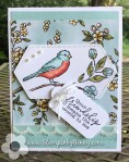 Stampin Up Free as a bird friendship card