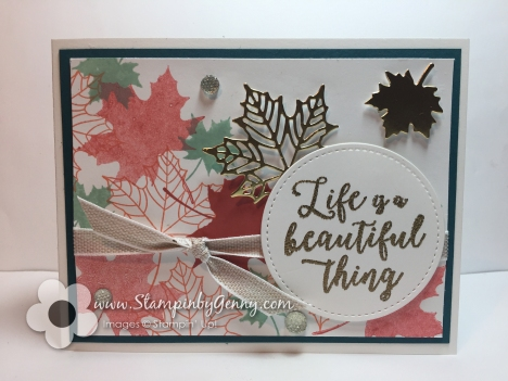 Stampin Up Colorful Seasons card