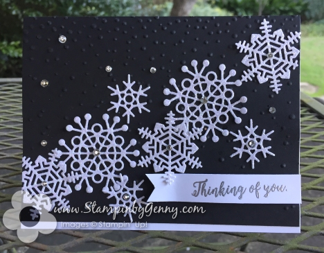 Stampin Up Colorful Seasons Thinking of You Snowflake card