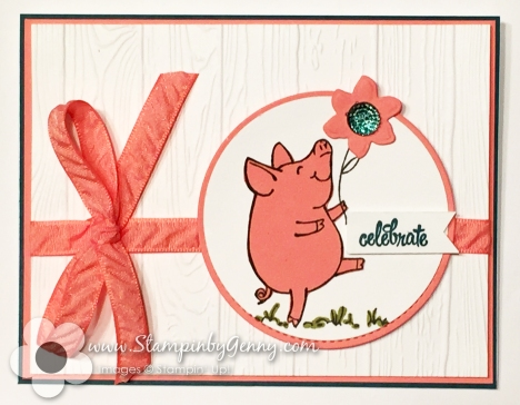 stampin up this little piggy birthday card