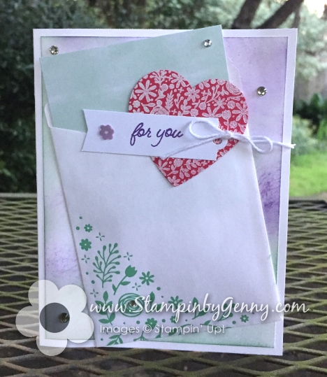 Stampin Up Paper Pumkin Alternative I'll bee Yours card