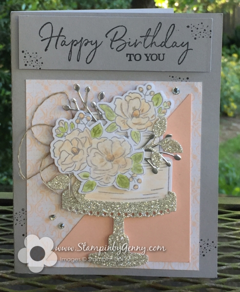 Stampin Up Happy Birthday To You card
