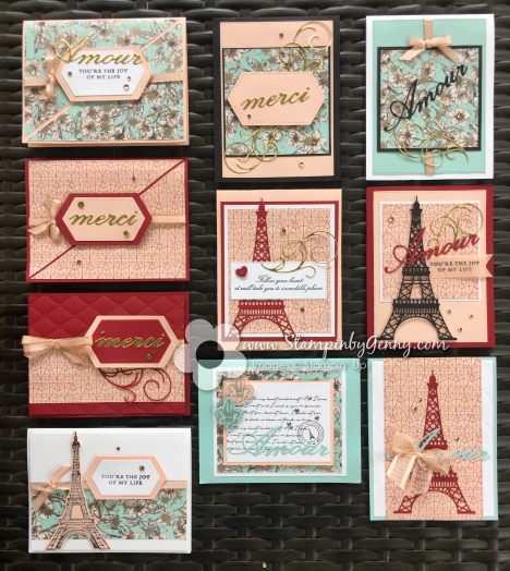 Stampin Up Parisian Beauty cards