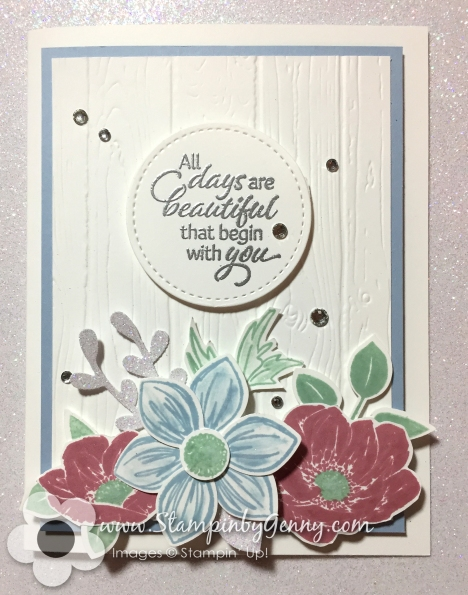Stampin JUp Flloral Essence card
