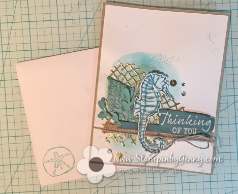 Stampin up Seaside Notions Thinking of you card