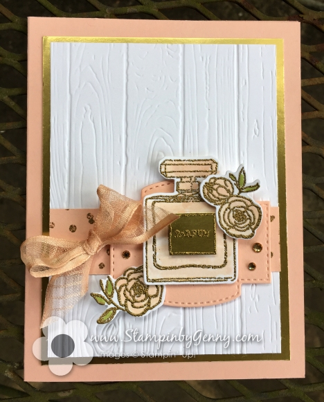 Stampin up Dressed to impress card