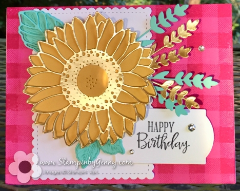 Stampin up Celebrate Sunflowers Birthday card