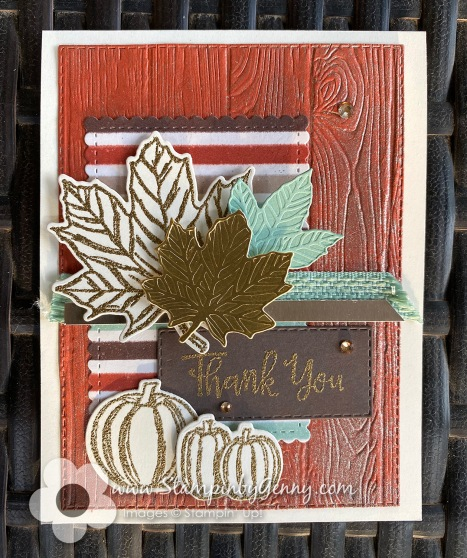Stampin Up Gather Together Fall Thank you card