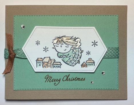 Stampin up Christmas card, Stampin Up Flights of Fancy card, angel cards, Stampin Up
