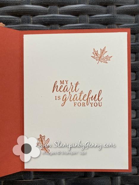 Stampin Up Beautiful Autumn and Gather Together bundle card
