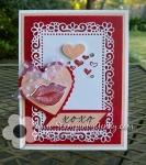Stampin Up Hearts & Kisses bundle Valentinescard
