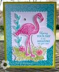 Stampin Up Friendly Flamingo birthdaycard
