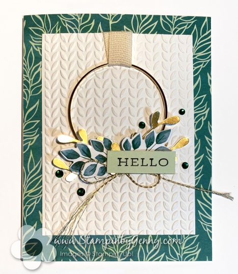 Stampin Up card created with Forever Greenery suite