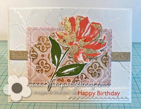 Stampin Up Art Gallery Birthday card